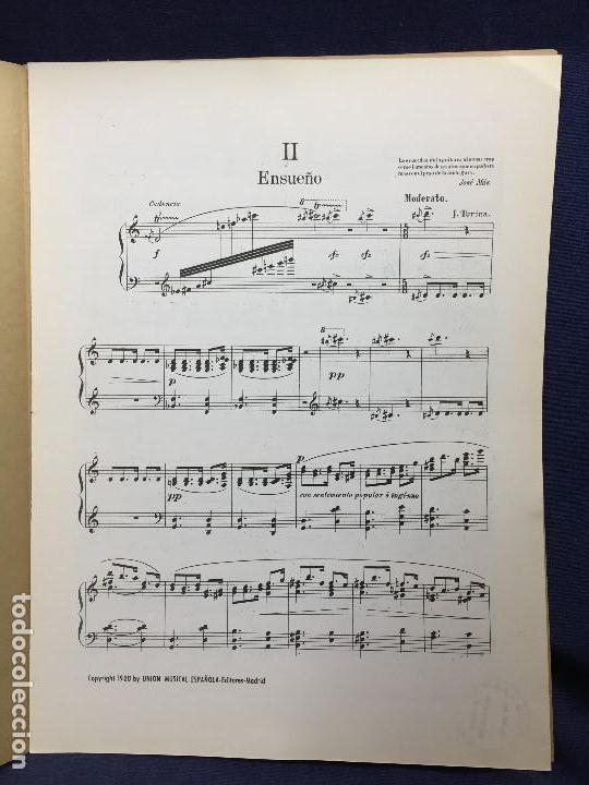 Partituras musicales: turina danzas fantásticas nº 1 exaltación nº 2 ensueño nº 3 orgía unión musical española madrid - Foto 2 - 123097435