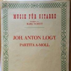 Partituras musicales: MUSIK FÜR GUITARRE PARTITA A-MOLL. Lote 123291979