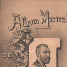 Partituras musicales: ALBUM MUSICAL DE COMPOSITORES MALLORQUINES (ZOZAYA EDITOR, 1893) MALLORCA. Lote 124651747