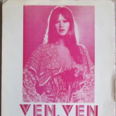 Partituras musicales: MARISOL: PARTITURA PARA VEN, VEN (RAIN, RAIN, RAIN). EDICIONES MUSICALES MONTSERRAT. 1973. Lote 125152659