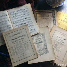Partituras musicales: LOTE DE PARTITURAS Y CUADERNOS DE MÚSICA PARA PIANO CHOPIN-HAYDN-BEETHOVEN-LIBRETO J.JAYDN. Lote 125324271