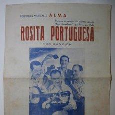 Partituras musicales: LOS HUARACHEROS, ROSITA PORTUGUESA.. Lote 125709067