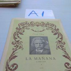 Partituras musicales: PIANO LA MAÑANA EDVARD GRIEG 745. Lote 125823575