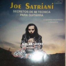 Partituras musicales: JOE SATRIANI.ESCRETOS DE MI TECNICA PARA GUITARRA.1993. Lote 126066655