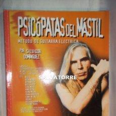 Partituras musicales: PSICOPATAS DEL MASTIL.METODO DE GUITARRA ELECTRICA.SALVADOR DOMINGUEZ.CON DOS CDS.. Lote 126066779