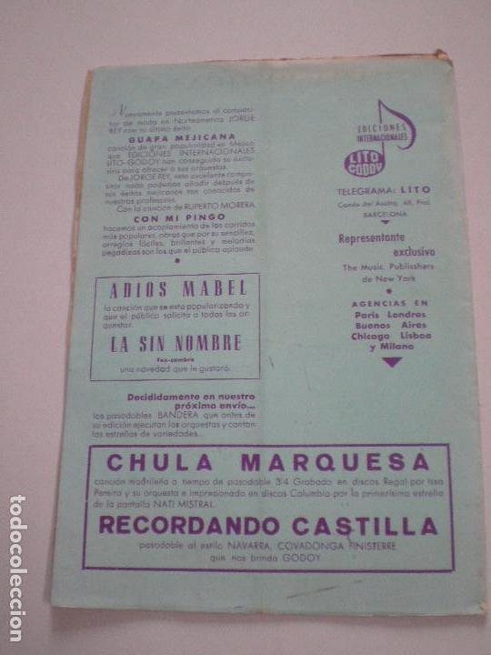 Partituras musicales: JORGE NEGRETE - Guapa Mejicana. Con Mi Pingo - PARTITURAS LITO CODOY 1950s - Foto 3 - 126940415
