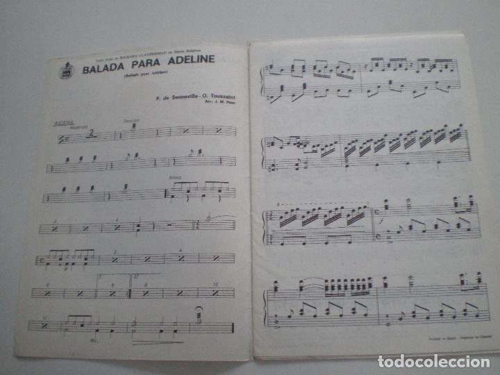 Partituras musicales: RICHARD CLAYDERMAN / LOS MARISMEÑOS - Balada Para Adeline. Quiereme Maria - PARTITURAS HISPAVOX 197? - Foto 2 - 126942023