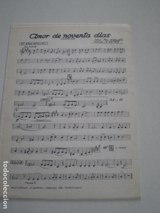 Partituras musicales: MARIAN Y SU CONJUNTO - El Cuatrero- PARTITURAS J.OLTRA JEFE ORQUESTA MAJESTIC HOTEL BARCELONA 1960s - Foto 3 - 126980231