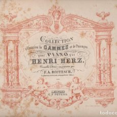 Partituras musicales: HENRY HERZ : GAMMES ET PASSAGES POUR PIANO (PETERS, LEIPZIG, S.F.). Lote 127828715