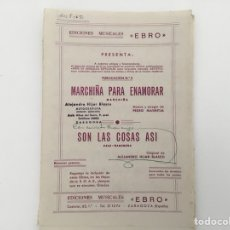 Partituras musicales: MUSICA PARA BANDA, MARCHIÑA PARA ENAMORAR. Lote 128598138