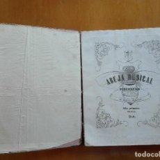 Partituras musicales: LA ABEJA MUSICAL PUBLICACIÓN POR UNA ASOCIACIÓN DE JÓVENES PIANISTAS. AÑO PRIMERO MADRID 1858. Lote 128623999