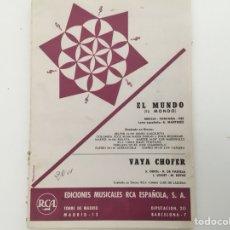 Partituras musicales: IL MONDO, FONTANA Y OTROS. MUSICA PARA BANDA. Lote 128706459