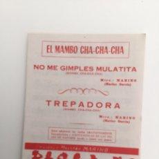 Partituras musicales: EL MAMBO CHA-CHA-CHA, DOS TEMAS PARA BANDAS. Lote 128746854