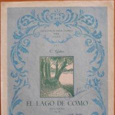 Partituras musicales: PARTITURA DIPTICA EL LAGO DEL COMO. Lote 129735587