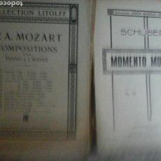 Partituras musicales: LOTE DE PARTITURAS PARA PIANO PRINCIPIOS SIGLOS XX. Lote 131122543