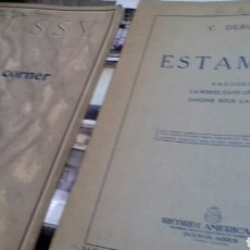 Partituras musicales: PARTITURAS PIANO. DEBUSSY. Lote 131449971