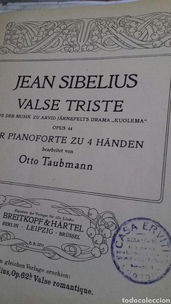 PARTITURA PIANO.JEAN SIBELIUS.VALSE TRISTE (Música - Partituras Musicales Antiguas)