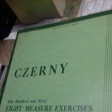 Partituras musicales: PARTITURA PIANO.CZERNY.EXERCISES. Lote 131451158