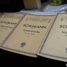 Partituras musicales: PARTITURAS PIANO.SCHUMANN. Lote 131451815