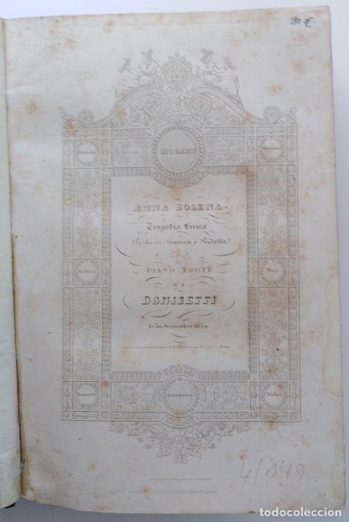 Partituras musicales: DONIZETTI: ANNA BOLENA. PARTITURA DE CANTO Y PIANO. (PARÍS, 1859) - Foto 2 - 131791218