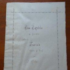 Partituras musicales: MANUSCRITA, GRAN CAPRICHO SOBRE LA TRAVIATA, J ASCHER, 18 PAGS Y PORTADA. Lote 132799054