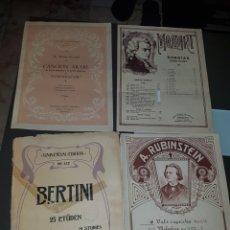 Partituras musicales: LOTE DE 4 LIBROS PARTITURAS ANTIGUAS. Lote 151585632