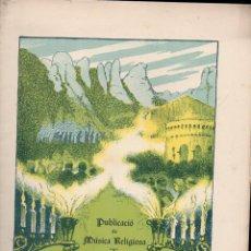 Partituras musicales: MÚSICA RELIGIOSA : JOAN LAMBERT - TRES PARENOSTRES I AVEMERIES (FOMENT DE PIETAT). Lote 133346102