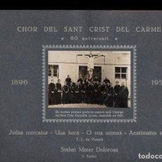 Partituras musicales: CHOR DEL SANT CRIST DEL CARME 60 ANIVERSARI 1896-1956. Lote 133347486