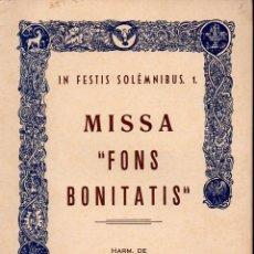 Partituras musicales: LUIS URTEAGA : MISSA FONS BONITATIS (ERVITI). Lote 133430818