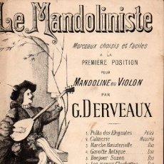 Partituras musicales: LE MANDOLINISTE : MARCHE FAUBOURIENNE (DERVEAUX EDITÉUR, PARIS). Lote 133442310