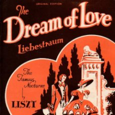 Partituras musicales: LISZT : TEHE DREAM OF LOVE - LIEBESTRAUM (PAXTON, LONDON). Lote 133442474