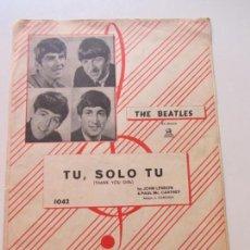 Partituras musicales: SOLO TU THANK YOU GIRL - JOHN LENNON, PAUL MC CARTNEY - THE BEATLES - GRAMOFONO-ODEON CS146. Lote 133552830