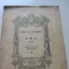 Partituras musicales: MÉTODO DE PIANO PARA PINCIPIANTES ANTIGUO, DE FÉLIX DE COUPPEY CS146. Lote 133554234