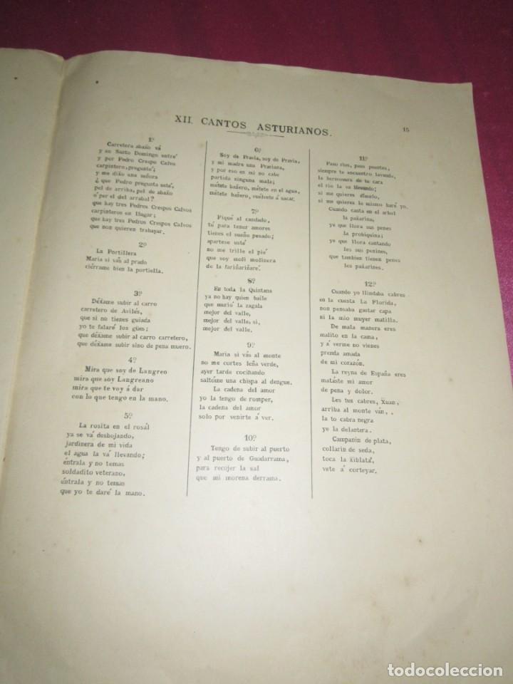 Partituras musicales: CANCION ASTURIANA PARTITURA POPURRI CON 12 CANCIONES DE FIDEL MAYA - Foto 6 - 134130290