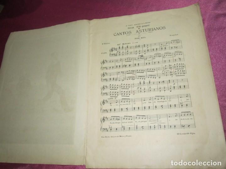 Partituras musicales: CANCION ASTURIANA PARTITURA POPURRI CON 12 CANCIONES DE FIDEL MAYA - Foto 9 - 134130290