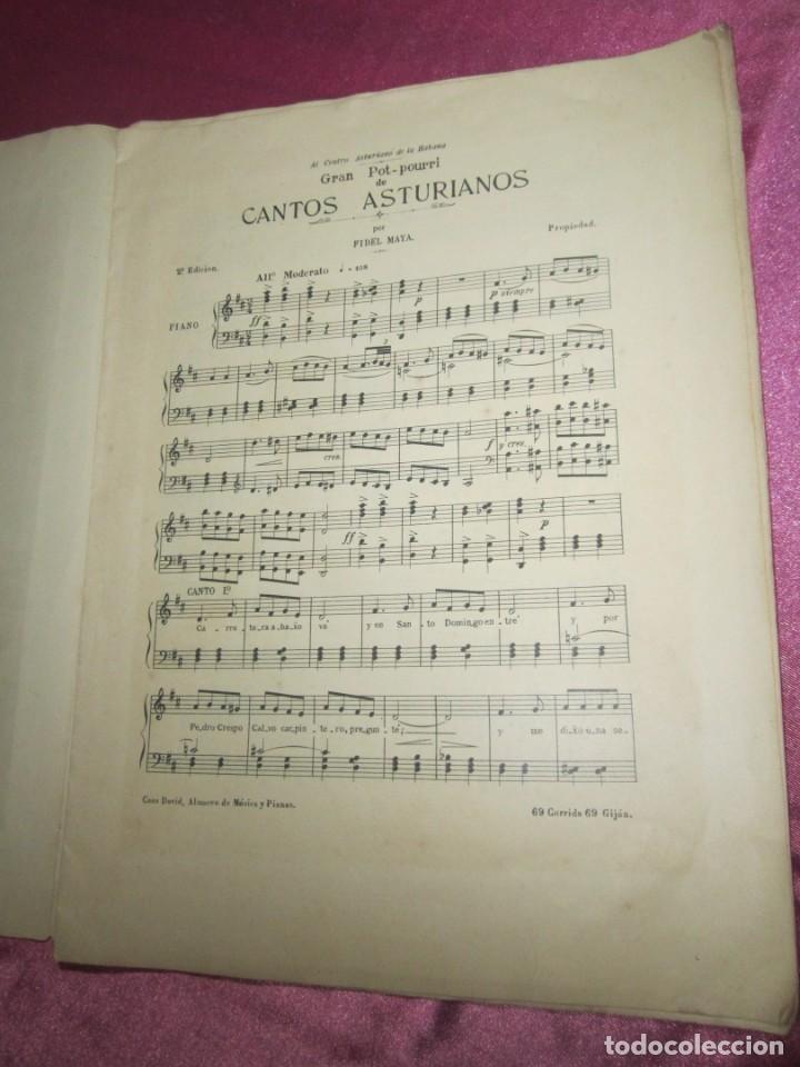 Partituras musicales: CANCION ASTURIANA PARTITURA POPURRI CON 12 CANCIONES DE FIDEL MAYA - Foto 10 - 134130290