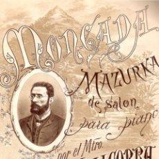 Partituras musicales: JOSÉ VALLCORBA : MAZURCA DE SALÓN (1885). Lote 134329006