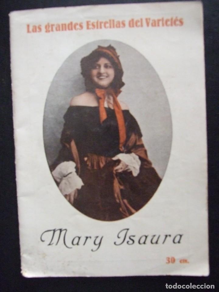 LAS GRANDES ESTRELLAS DEL VARIETES MARY ISAURA - LIBRETO CANCIONERO CON FOTOS (Música - Partituras Musicales Antiguas)