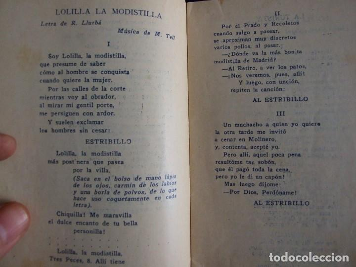 Partituras musicales: LAS GRANDES ESTRELLAS DEL VARIETES MARY ISAURA - LIBRETO CANCIONERO CON FOTOS AÑOS 20 - Foto 3 - 134922214