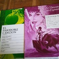 Partituras musicales: PARTITURAS DE PASODOBLE DE 1966. Lote 135438443