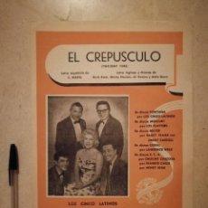 Partituras musicales: ANTIGUA PARTITURA - EL CREPUSCULO - PARTITURAS - LOS CINCO LATINOS. Lote 135478138