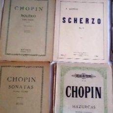Partituras musicales: CHOPIN LOTE DE 9 LIBROS ANTIGUOS DE PARTITURAS PARA PIANO: -BALLADES OP. 23-38-47-52. ÉDITION NATIO. Lote 135707295