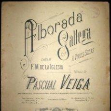 Partituras musicales: PARTITURA PARA PIANO DE ALBORADA GALLEGA. CASA DOTESIO, MADRID. PRINCIPIOS DE SIGLO XX.. Lote 135784374