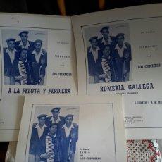 Partituras musicales: PARTITURAS DE LOS CHIMBEROS. Lote 135910542