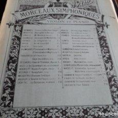 Partituras musicales: SERENADE PARA VIOLON CON ACOMPAÑAMIENTO DE PIANO POR G. PIERNE. Lote 137415618