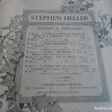Partituras musicales: ANTIGUA PARTITURA DE MÚSICA - HELLER 25 ESTUDIOS PARA PIANO 49 PAG. Lote 137417038