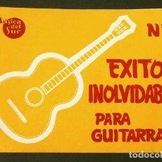 Partituras musicales: EXITOS INOLVIDABLES - PARTITURA CON ACORDES PARA GUITARRA - MUSICAS DEL SUR - SOUTHERN MUSIC Nº 1. Lote 138059982