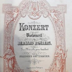 Partituras musicales: ANTIGUA PARTITURA VIOLONCELO BERNARD ROMBERG PRINCIPIOS SIGLO 20 . Lote 138689234