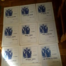 Partituras musicales: 10 ANTIGUAS PARTITURAS DE LOS CHIMBEROS. Lote 139301398