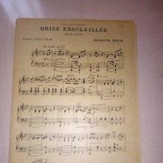 Partituras musicales: BRISE ENSOLEILLÉE (VALSE LENTE), DE JOSEPH RICO, PARTITURA AÑO 1923, ENSEMBLE. Lote 140472834